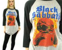 80s BLACK SABBATH Born Again Tour 1983 Raglan 3/4 Sl