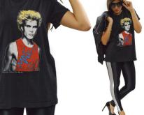 80s Billy Idol Male Love Black Sz L