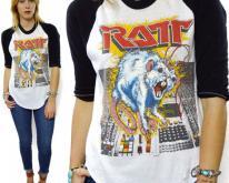 80s Ratt 'N' Roll Tour 1984 Raglan 3/4 Sleeve Jersey