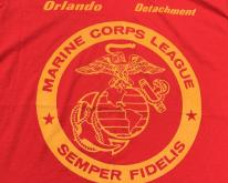 1990s U.S. Marine Corps League Red  XL