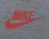 1980s Nike Red Swoosh Half  S/M Rayon Blend