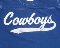 1970s Blue Cowboys Football Jersey  XS