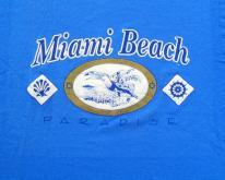 1980s Blue Miami Beach Puffy Tourist XL