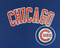 1980s Chicago Cubs MLB Blue  XL Logo7