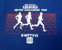 1980s Blue WFTV Challenge Run Burger King S/M