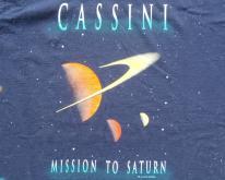 1990s Cassini Mission to Saturn Navy Blue  L