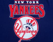 1980s New York Yankees Baseball MLB Blue  L