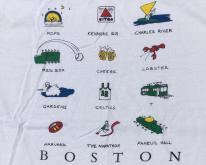 1980s Boston Landmarks White Souvenir  M