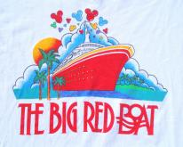 1990s Walt Disney Big Red Boat Cruise  XL
