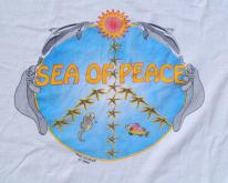 1980s Sea of Peace Paws for Peace Beige  L