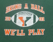 1990s Green and Orange Bring a Ball YMCA