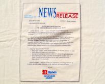 1990s Hanes Press Release 1992  L