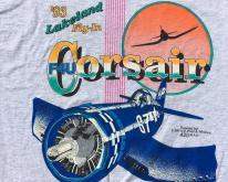 1990s Gray Blue Corsair Lakeland Fly In  L