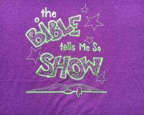 1990s The Bible Tells Me So Show Purple  L