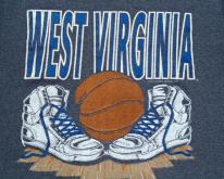 Vintage 1991 Dark Gray West Virginia Basketball T Shirt S/M