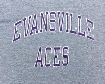 1980s Evansville Purple Aces Rayon Blend  S/M