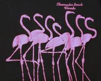 1980s Black Puffy Flamingos Clearwater Beach