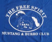 1990s Tampa Mustangs Burro Club Blue  L