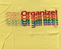 1980s CWA Organize Union Yellow  M/XL