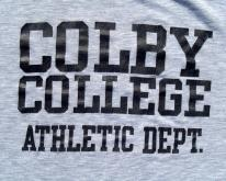1980s Colby College Heather Gray Rayon Blend