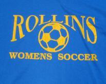 1980s Blue Rollins Womens Soccer  L