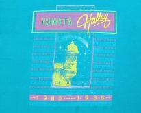 1986 Halleys Comet Puerto Rico Aqua Blue  S/L