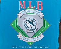 1990s Florida Marlins MLB Baseball Blue  M