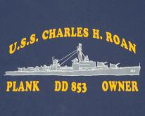 1980s Navy Blue Charles H Roan Destroyer XL