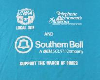 1980s CWA Southern Bell March of Dimes  XL