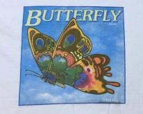 1980s Butterfly Florida Citrus Label White  L