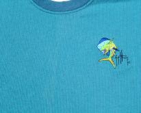 1990s Guy Harvey Blue Striped  L