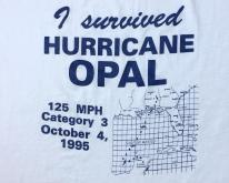 1995 I Survived Hurricane Opal White  XL