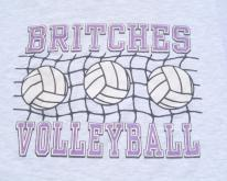 1990s Britches Volleyball Heather Gray  XL