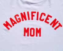 1990s Magnificent Mom Flock Letter White  XL