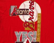1990s Atlanta Braves MLB Red Cotton  L