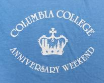 1980s Columbia College Anniversary Blue  M/XL