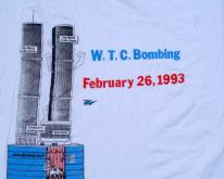 1993 World Trade Center Bombing White  XL