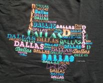 1980s Dallas Texas Black Souvenir  M/L