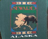 1980s Seward Alaska Green Souvenir  XL