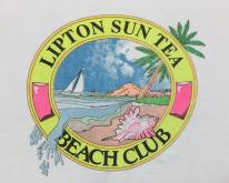 1980s Lipton Sun Tea Beach Club  L/XL