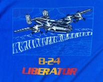 1980s B-24 Liberator Military Airplane Blue