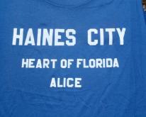 1980s Haines City FL Flock Letter  XL Jerzees