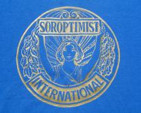 1980s Blue Soroptomist Volunteer Org L