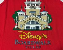 1990s Disney's Boardwalk Villas Red Tank Top M