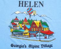 Vintage 1980s Light Blue Helen Georgia Souvenir T-Shirt XXL