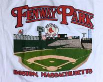 1990s Fenway Park Boston Red Sox White  M/L