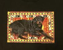 1990s Frances Meyer Rottweiler Dog Black  L