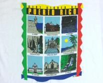 1990s Many Sights of Puerto Rico Souvenir  XL