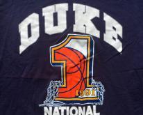1991 Duke University NCAA Basketball Blue  L