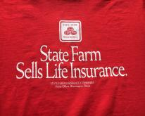 1980s State Farm Life Insurance Red  L